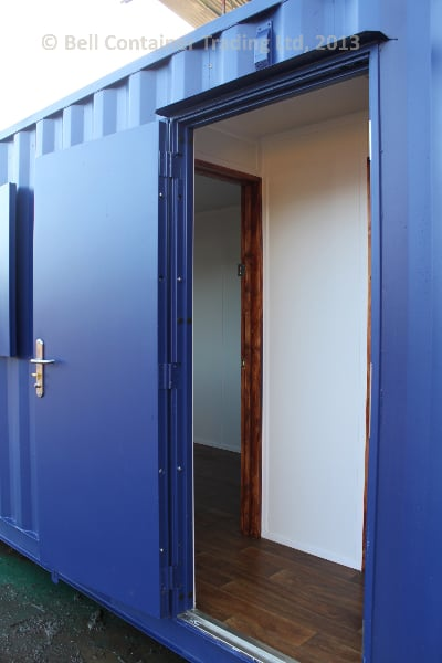 40ft container changing room central lobby