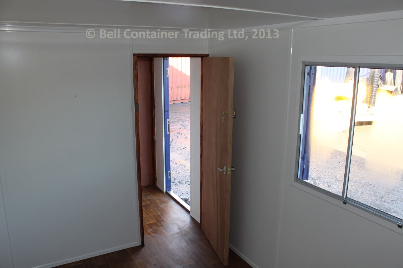 40ft container conversion changing room interior