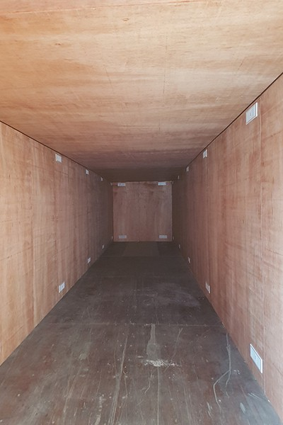 40ft container ply lined with additional vents