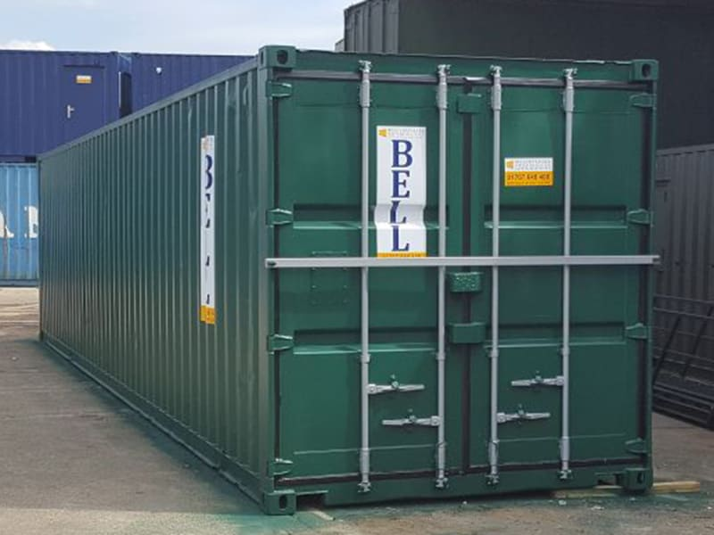 40ft container with additional locking bar