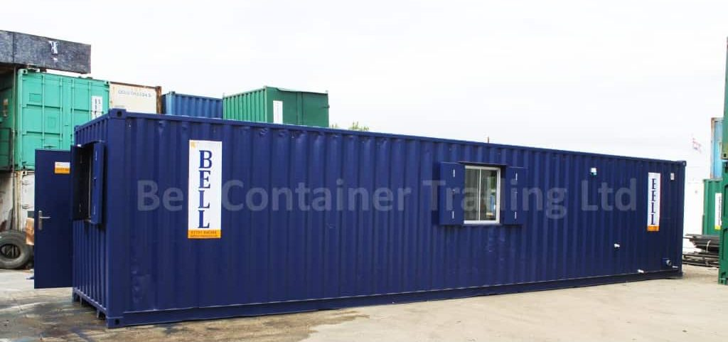 40ft office canteen container conversion with shower and WC facilities