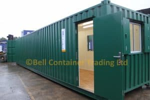 40ft office container and workshop conversion