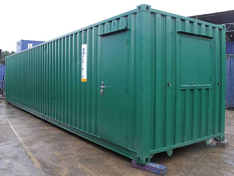 40ft office unit with personnel door