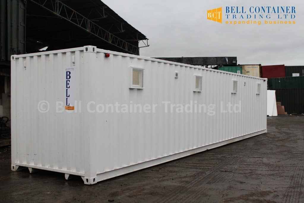 40ft shipping container changing room modification white