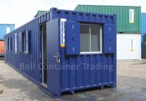 40ft shipping container conversions London modified container door end