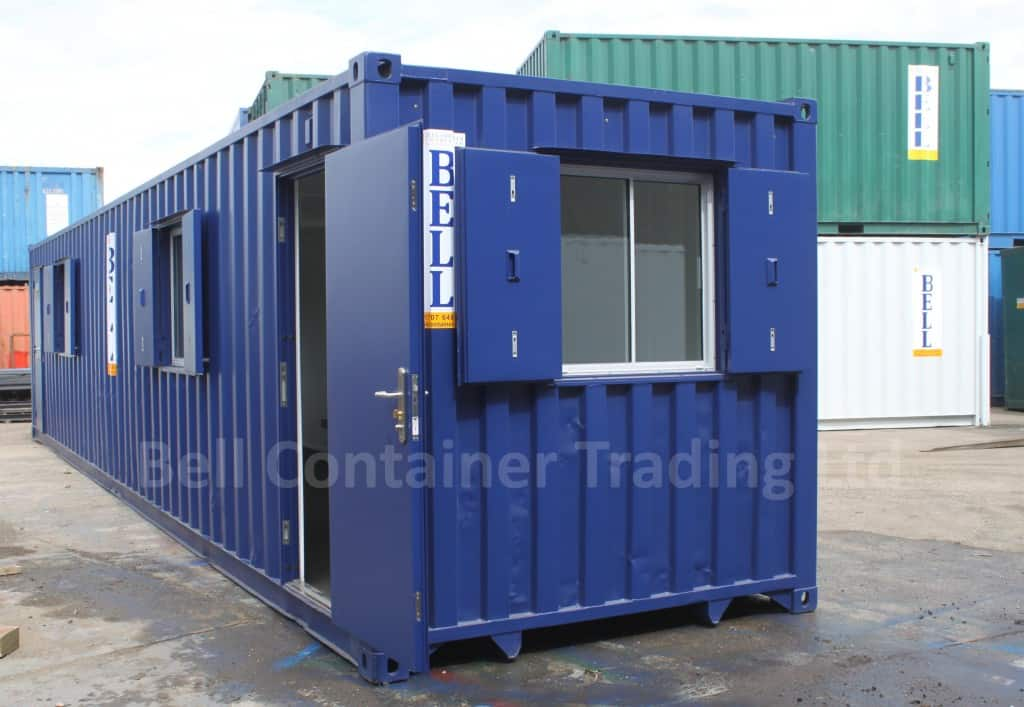 Shipping container conversions modifications london storage containers hire sales london - How to convert a shipping container ...