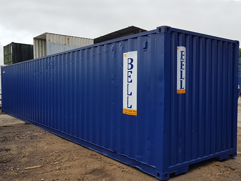 40ft storage container for hire London depot
