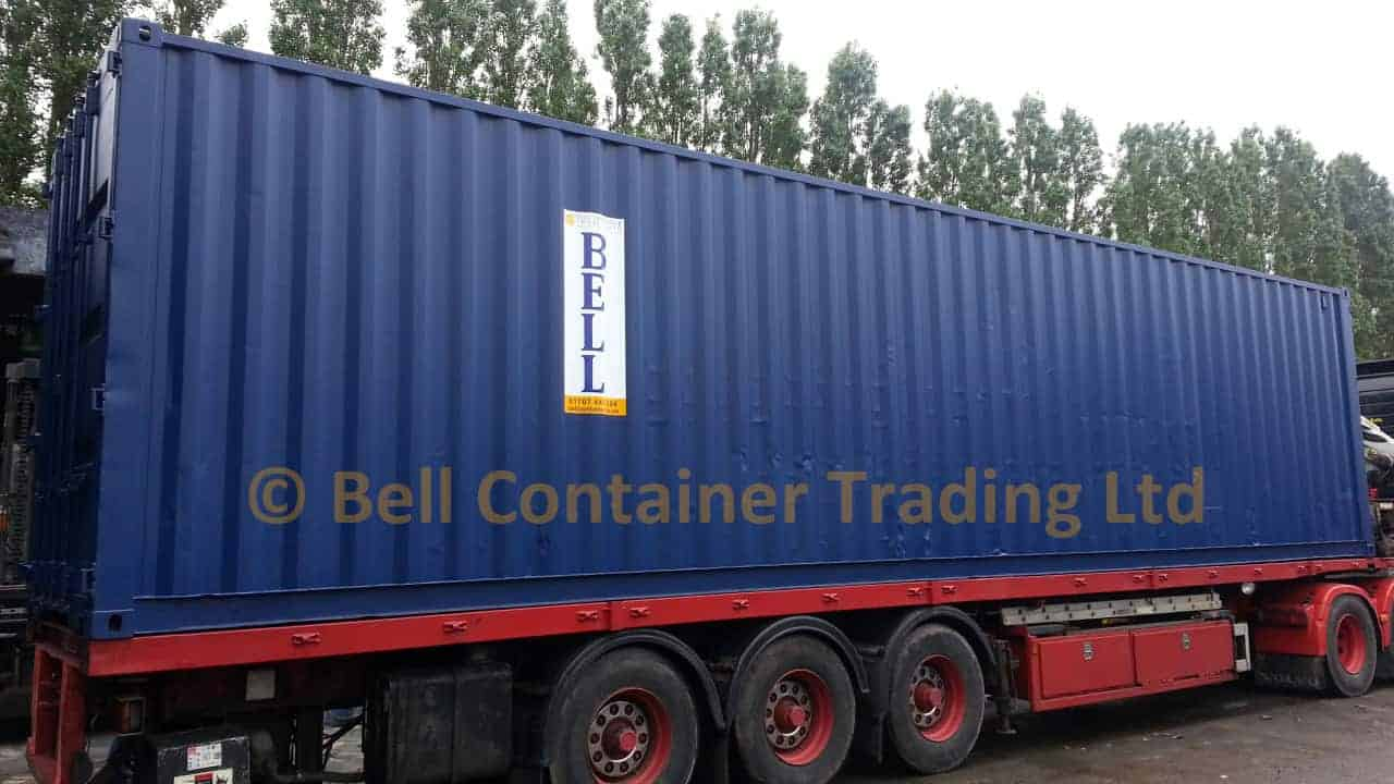 40ft tunnel container high cube hi ab articulated container delivery