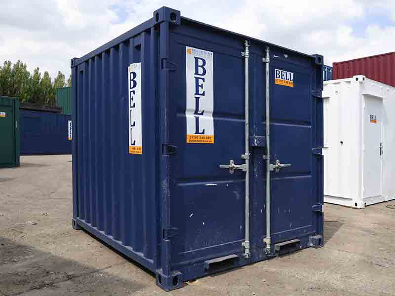 8ft x 7ft storage container hire and sales fleet doors closed