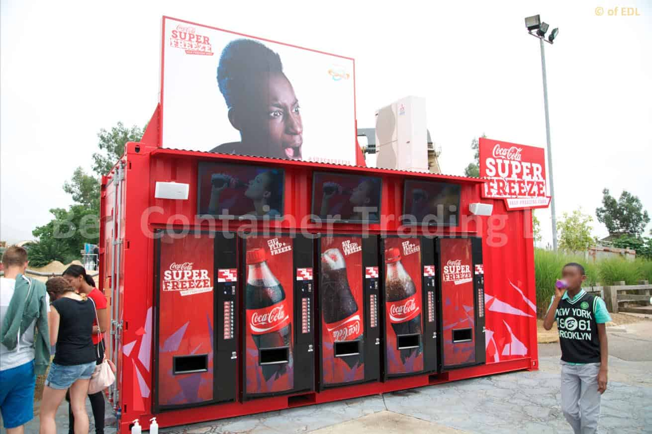 Coca Cola Superfreeze container conversion 1