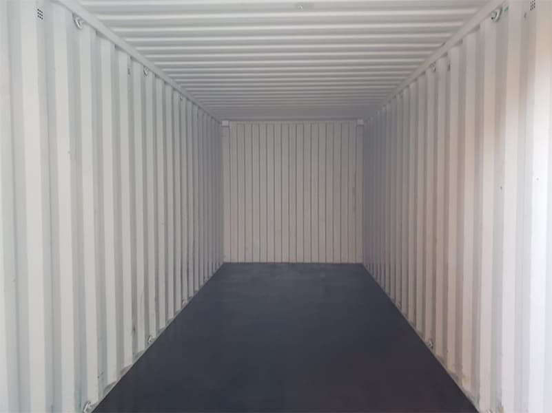 Inside 20ft container from our domestic hire fleet
