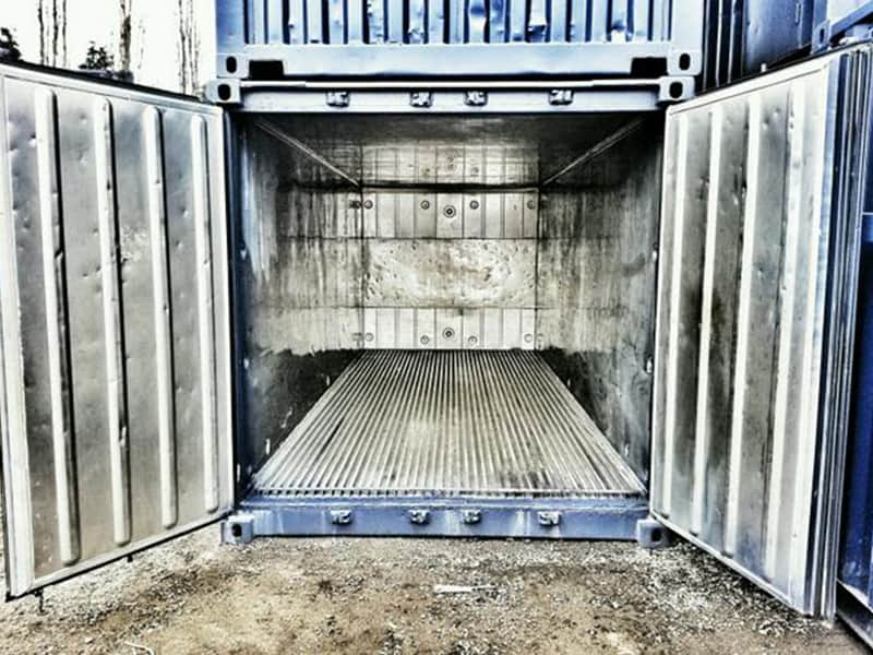 Insulated 20 shipping container
