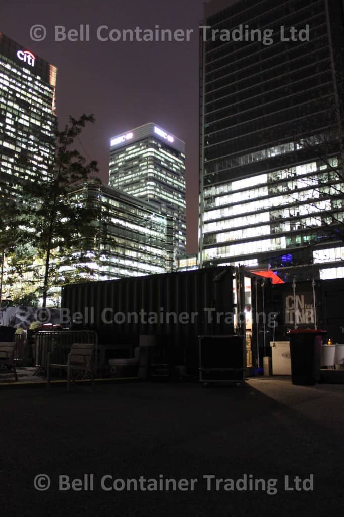 Shipping Container Bat at Night London