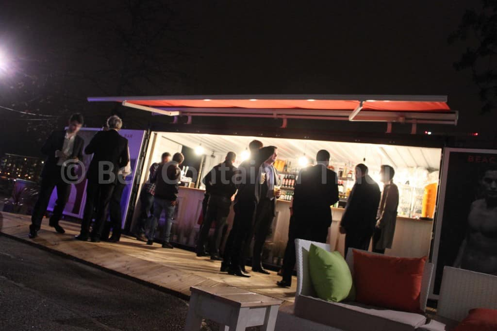 Shipping Container Pop Up Bar