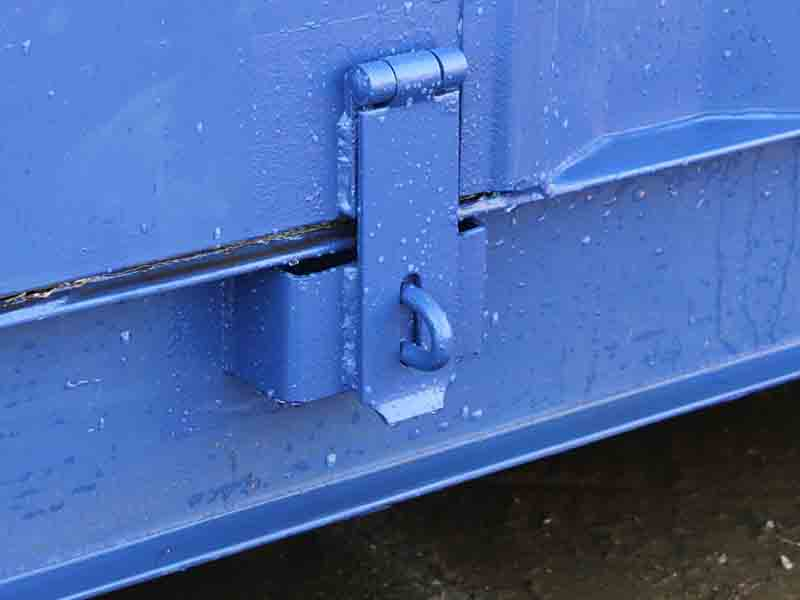 additional hasp and staple for security