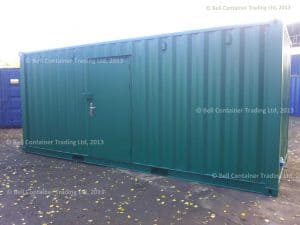 bespoke 20ft container conversion exterior