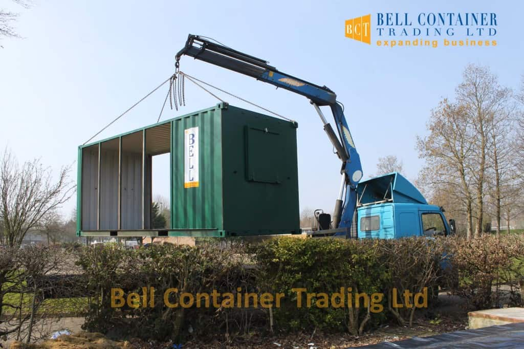 container changing room conversion hiab delivery