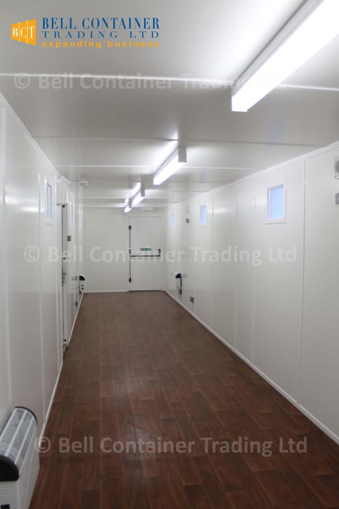 container changing room inside 40ft conversion
