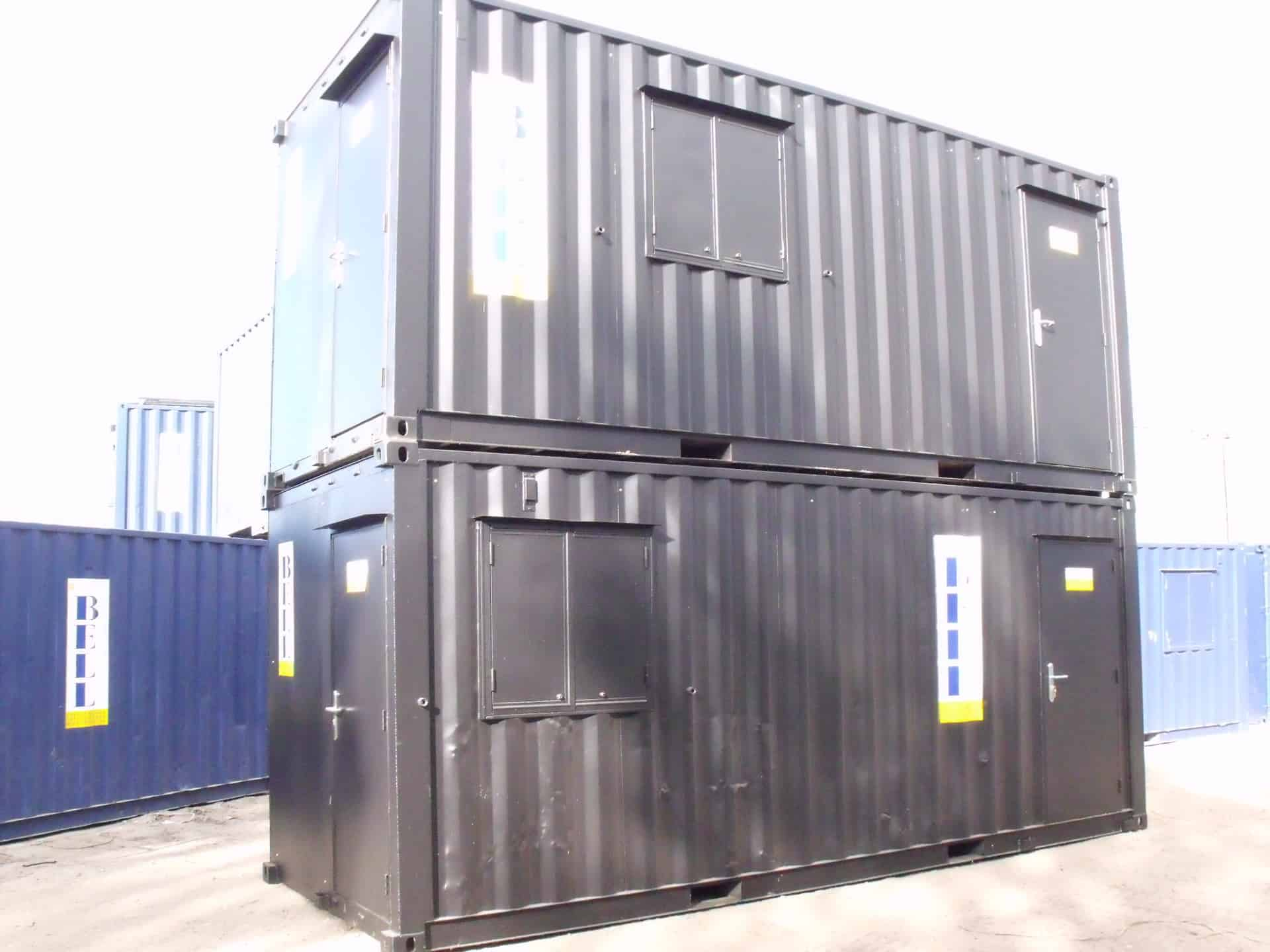 container conversions exterior profile 20ft black