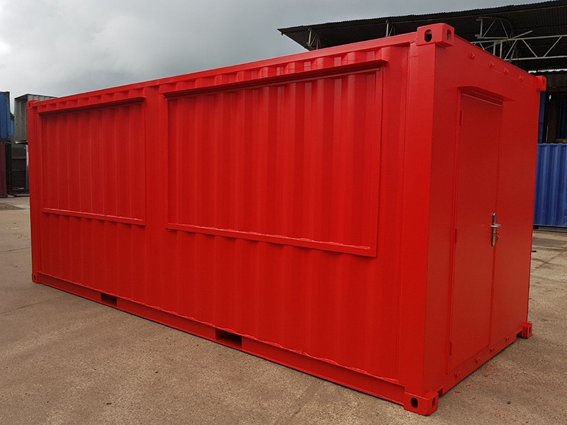 container serving hatch gas struts and hydraulics container conversion profile