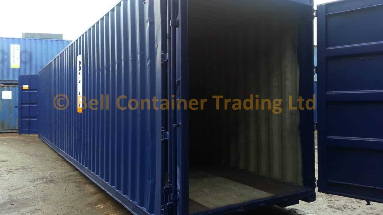 container tunnels 40ft high cube doors open