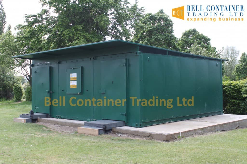 cricket club changing room container conversions external