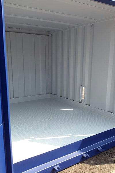 durbar chequerplate steel floor converted container bunded floor