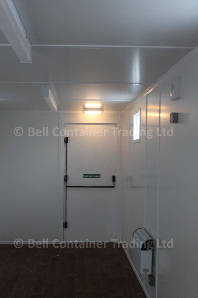 fire exit door inside container conversion push bar