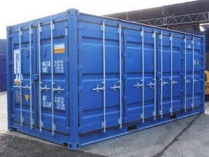 full access 20ft container doors closed