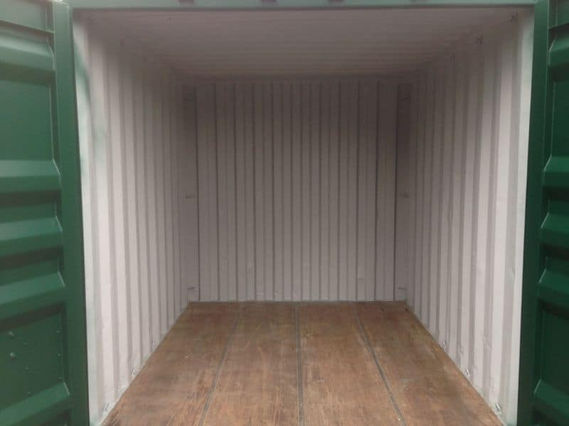inside 10ft 10 x 8 storage container