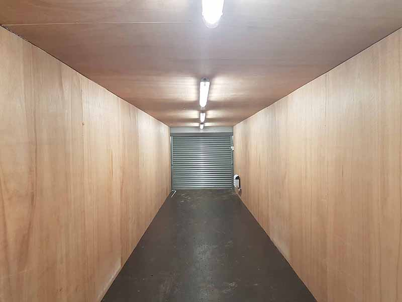 inside 40ft container with roller shutter doors