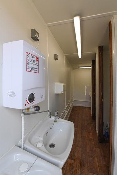 inside a 2+1 toilet block