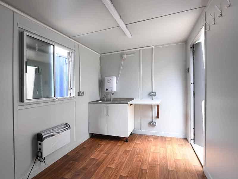 inside open plan 16ft canteen unit