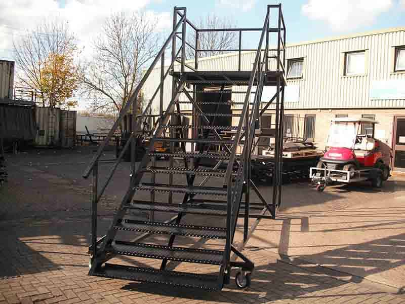 mobile access steps bespoke wider access