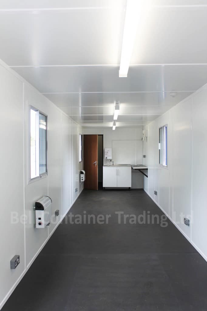 modified 40ft shipping container office canteen conversion