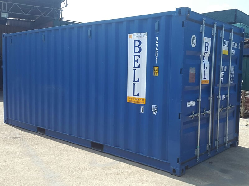20ft steel storage container in blue