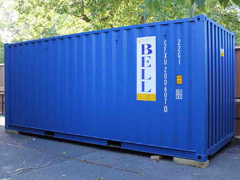 New 20ft one trip only steel storage container