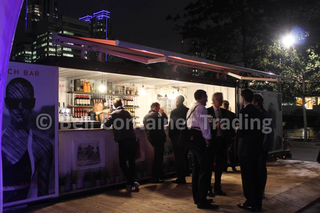 popup container bar London shipping container