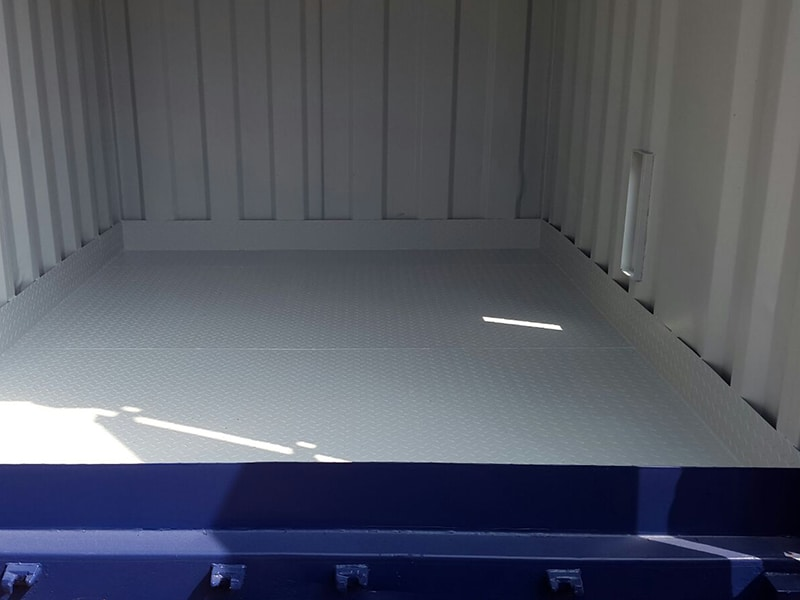 raised bunded floor inside container