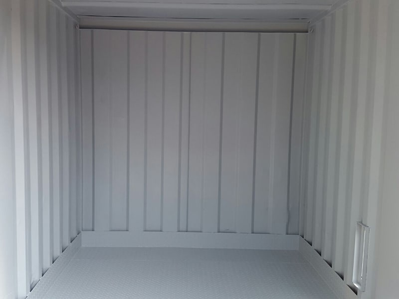 raised bunded steel floor inside container