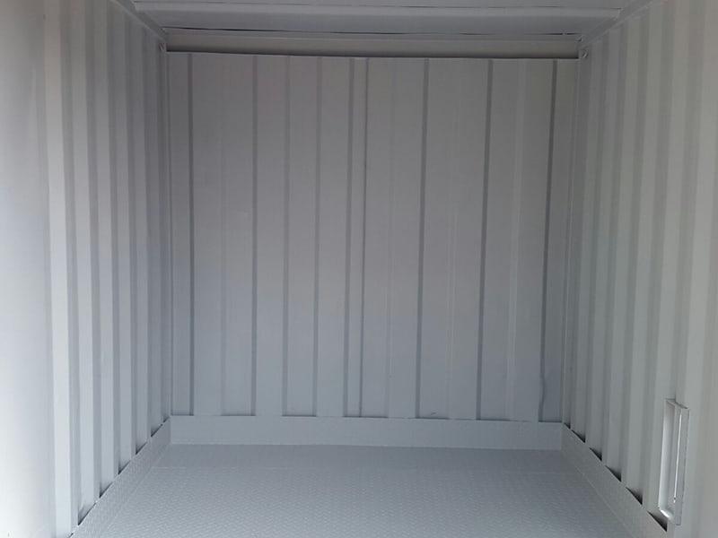 raised bunded steel floor inside container