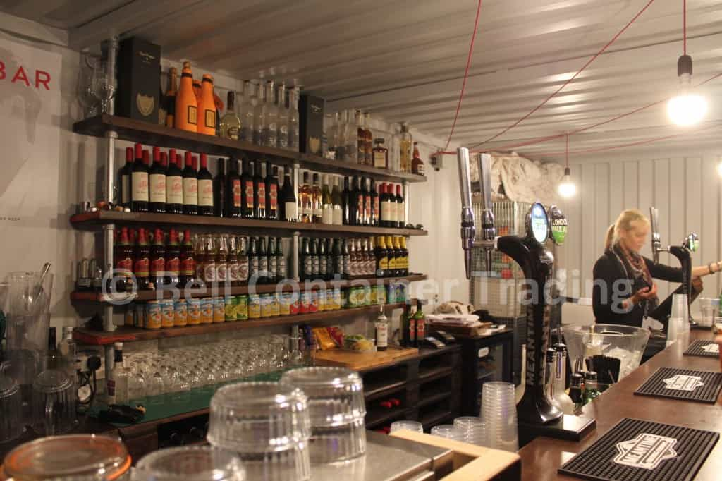 shipping container bar London popup 20ft