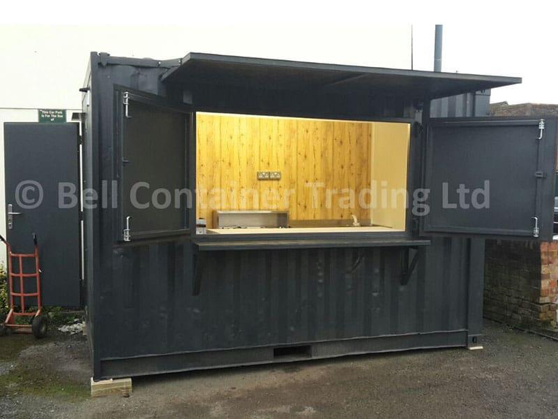 shipping container café conversion London