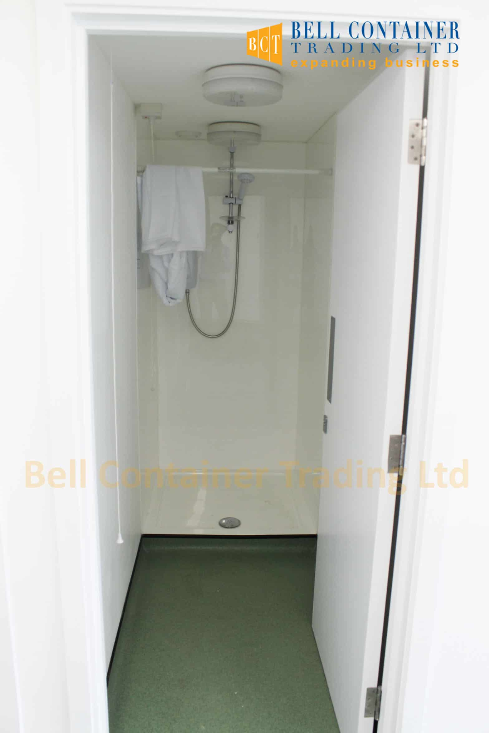 shipping container changing room shower unit