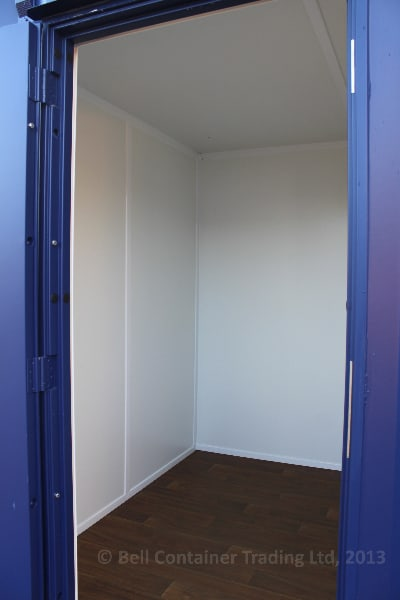 shipping container changing room storage room
