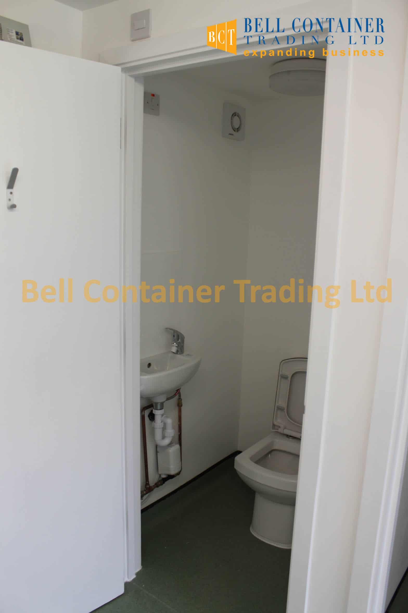 container changing room conversion internal area