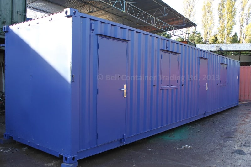 shipping container changing room unit storage end