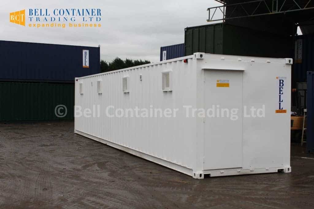shipping container conversions white 40ft changing room