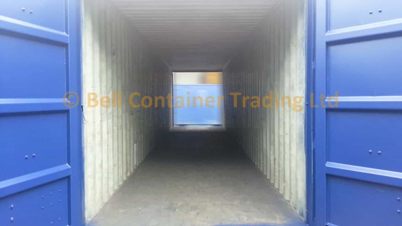 shipping container tunnels 40ft high cube inside