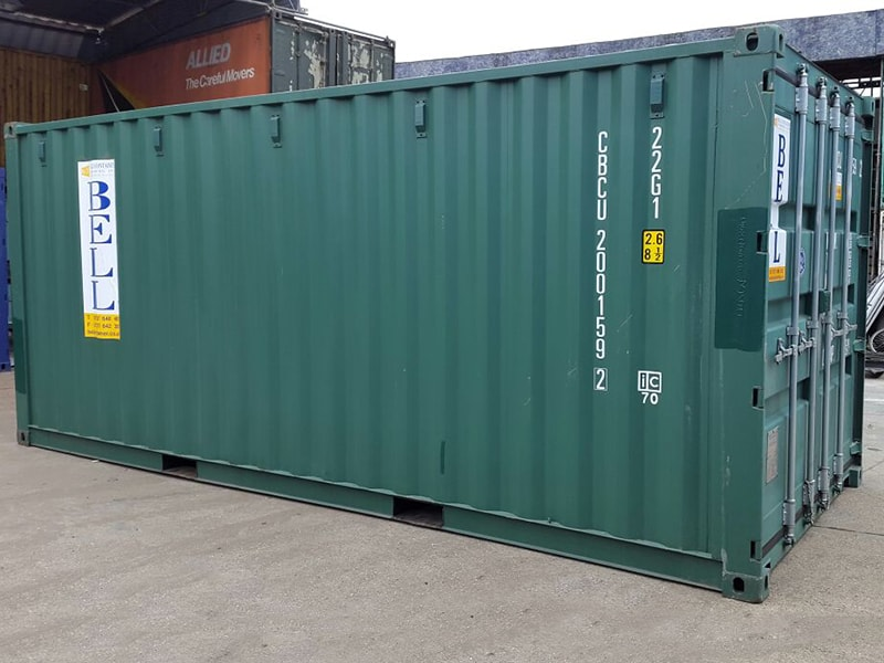 Green colour container - colour code: RAL 6007